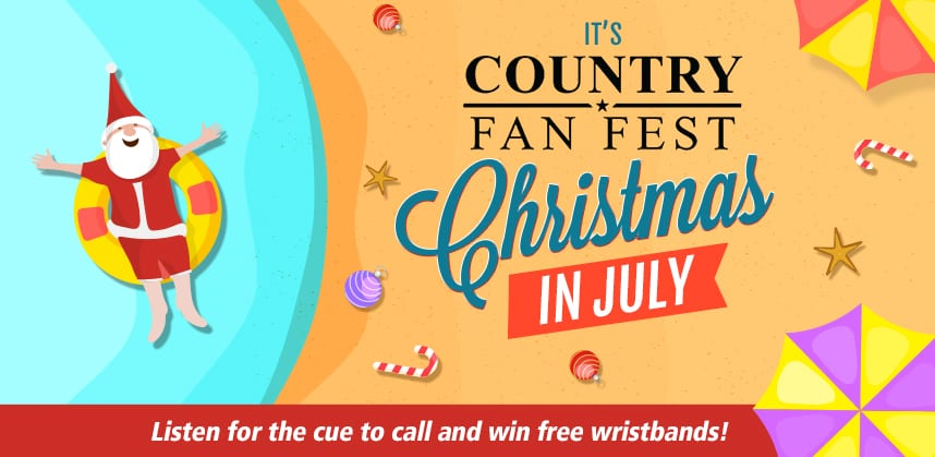 Country Fest Christmas 2019 Country Fan Fest Christmas In July   105.5 The Hawk   #1 For New